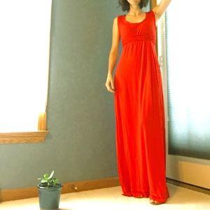 Max Studio coral maxi dress